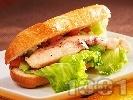 Рецепта Диетичен сандвич с пиле и зеленчуци
